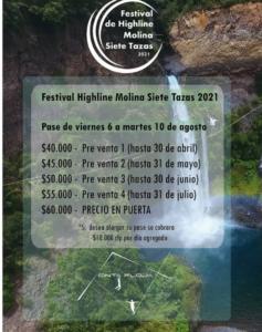 🇨🇱 Festival Highline Molina Siete Tazas 2021
